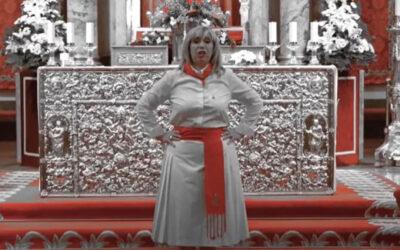 La jotera Laly Jausoro canta a San Fermín